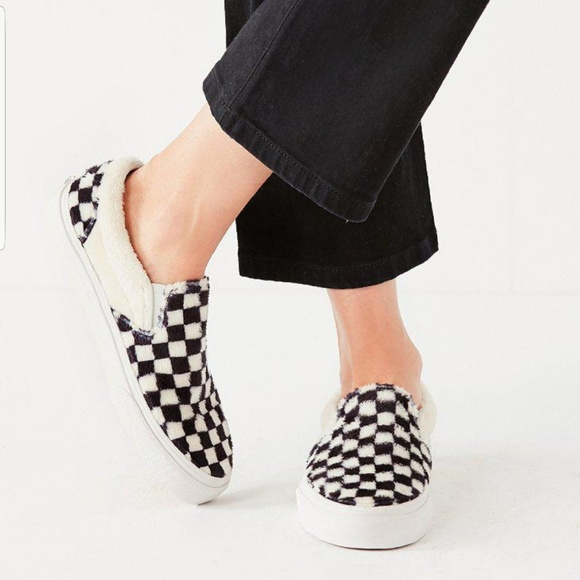 Toddlers Sherpa Checkerboard Slip On V